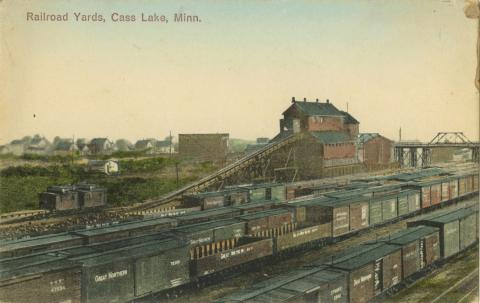 Railroad yards, Cass Lake, Minnesota
