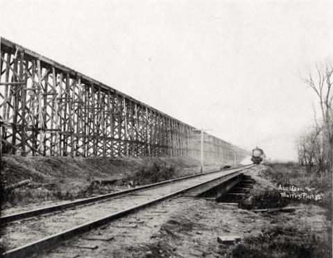Stockwood Fill railroad trestle, Hawley, Minnesota