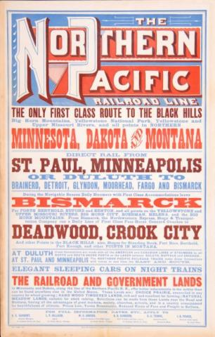 The Northern Pacific Railroad Line broadside